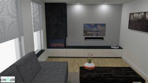 tv-meubel-3d-zwart-marmer look-witte kastjes-gashaard